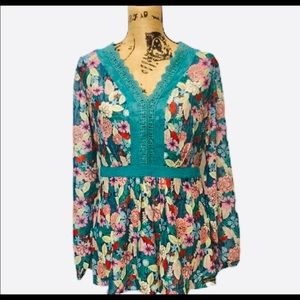 NEW Matilda Jane Colorful Lace Floral Girl Blouse
